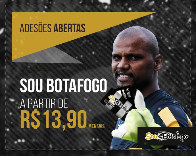 Jefferson Sócio-torcedor Botafogo (Foto: Divulgação / Botafogo)
