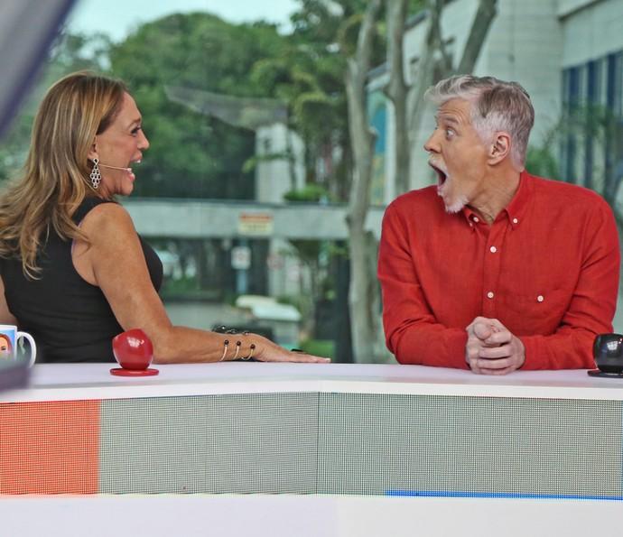 Miguel Falabella se surpreende com história de Susana Vieira (Foto: Isabella Pinheiro / Gshow)