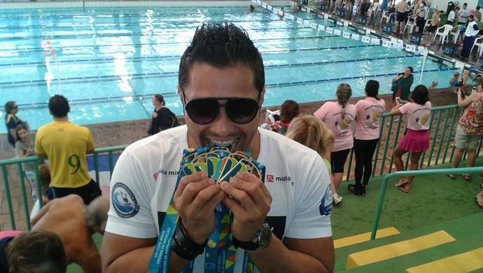 Eliel Oliveira, nadador mastrer do Amapá (Foto: Eliel Oliveira/Arquivo Pessoal)