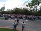 Funcionários da Samarco protestam (VC no ESTV)