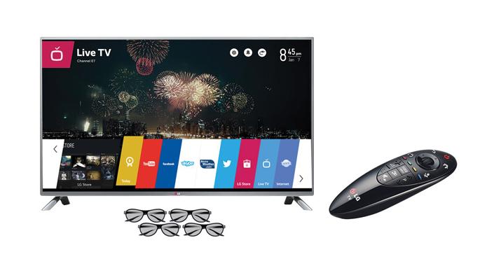 TV LG com WebOS de 55 polegadas custa o mesmo que um  iPhone 6 Plus de 128 GB (Foto: Divulgação)