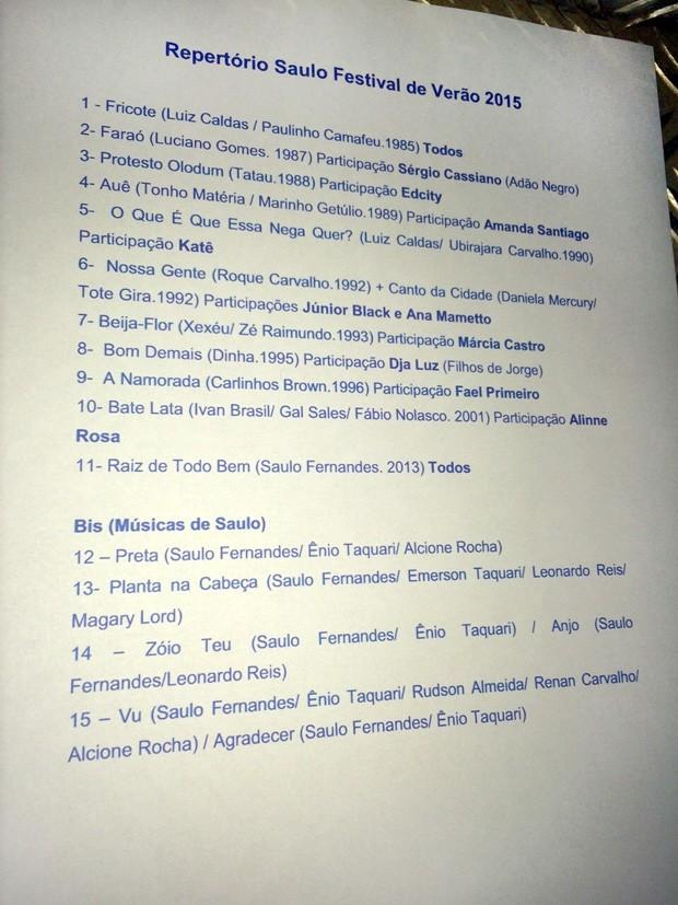 Setlist: Saulo no Festival de Vero de Salvador (Foto: Multishow)