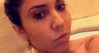 Nudes? Melão sensualiza sem roupa na banheira após noite de desfile no RJ (Reprodução / Snapchat)