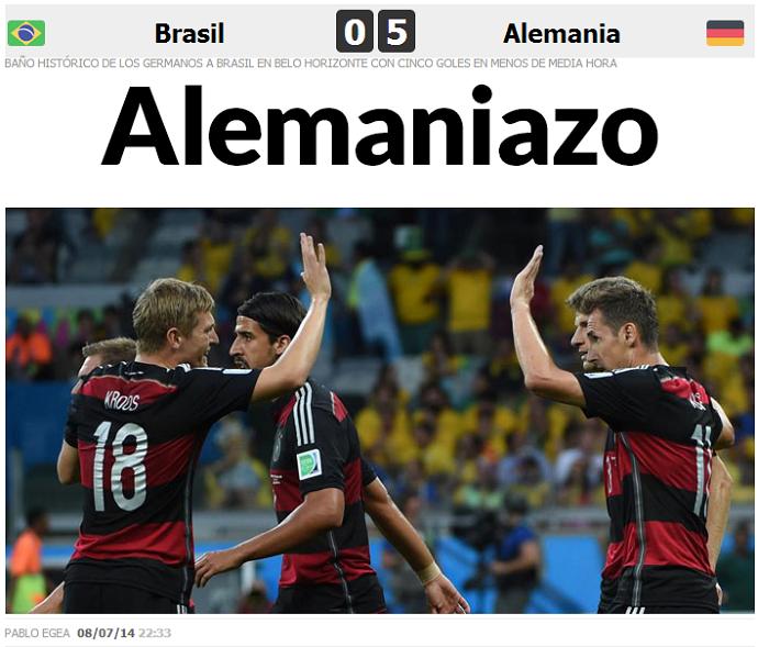 Marca, da Espanha, também ironiza goleada sofrida pelo Brasil