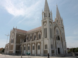 Catedral de Petrolina ficará fechada para reformas a partir de janeiro. (Foto: Juliane Peixinho/G1)