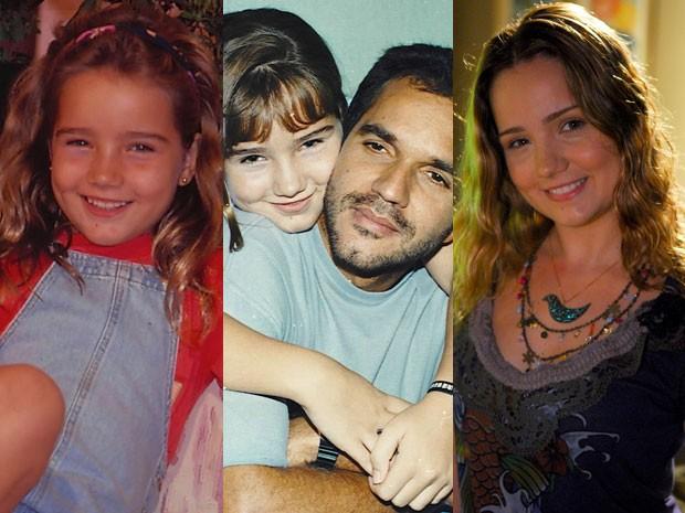 Tatyane Goulart em 'Felicidade' (1991); depois contracenando com Humberto Martins, em 'Quatro por Quatro' (1994), e em 'Cinquentinha' (2009) (Foto: CEDOC/Divulgação/TV Globo)