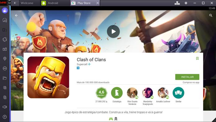 Instalando Clash of Clans no PC (Foto: Reprodução/André Mello)