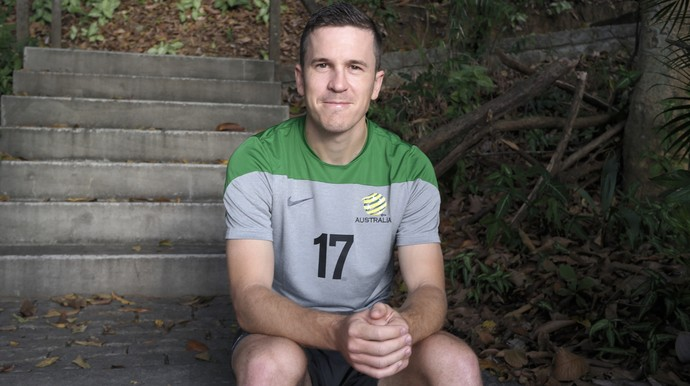 Matt McKay, meia da Austrália (Foto: Richard Pinheiro/GloboEsporte.com)