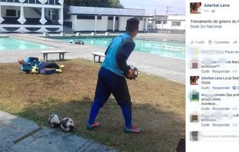 Em dia de semifinal, goleiros treinam à beira de piscina e técnico publica foto