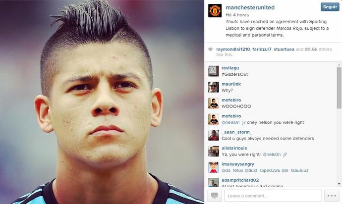 Instagram Manchester United Rojo (Foto: Divulgação/Instagram oficial Manchester United)