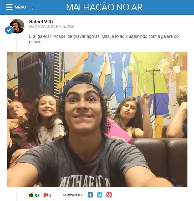 Chat: Rafael Vitti (Foto: Malhação / TV Globo)