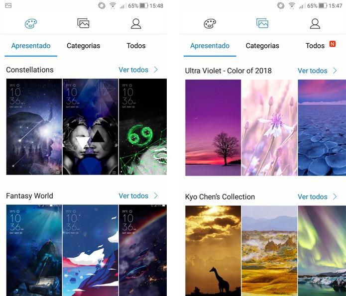 ZenUI 4.0 traz diversas opções de tema e ícones para personalizar o celular (Foto: Reprodução/Ana Marques)