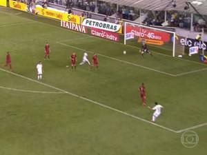 Gol Marquinhos Gabriel Santos x São Paulo (Foto: reprodução/vídeo)