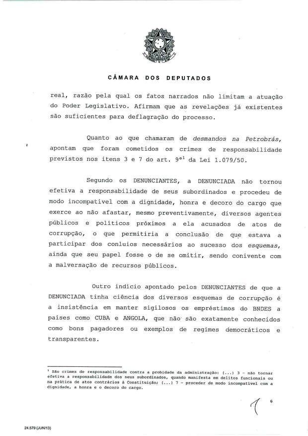 6 - Leia íntegra da decisão de Cunha que abriu processo de impeachment (Foto: Reprodução)