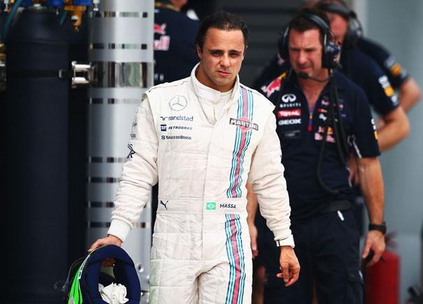 O brasileiro Felipe Massa, piloto da Willians (Foto: Agência Getty Images / reprodução globoesporte.com)