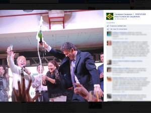 Festa de professores em Caçapava tem gogo boys e mulheres em gaiolas (Foto: Reprodução/ Facebook)
