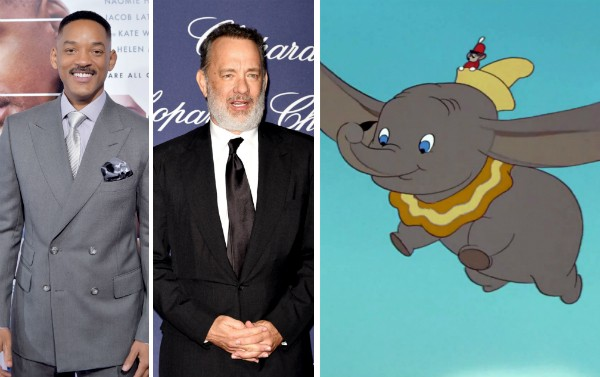 Will Smith, Tom Hanks e Dumbo (Foto: Getty Images/Reprodução)