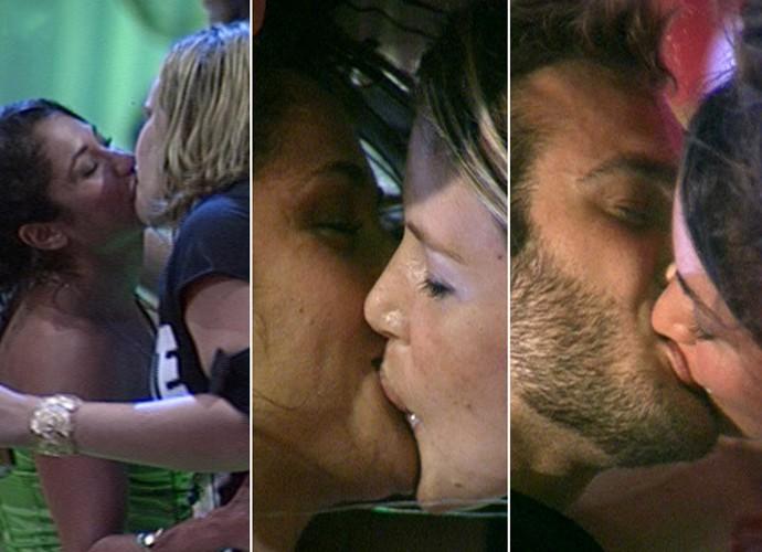 Maria distribuía beijinhos nas festas do BBB11 (Foto: TV Globo)