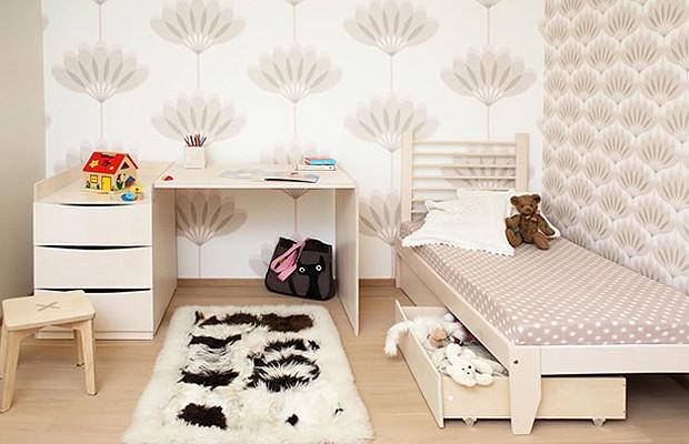O quarto de bebê é transformado em quarto de criança sem a necessidade de comprar novos móveis (Foto: Divulgação)