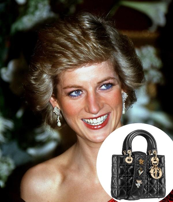 A bolsa Lady Dior foi inspirada na Princesa Diana (Foto: Getty Images/ Divulgação)