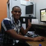 Pedro Silva, editor de imagem na Inter TV dos Vales (Foto: Wilkson Tarres / G1 Vales)