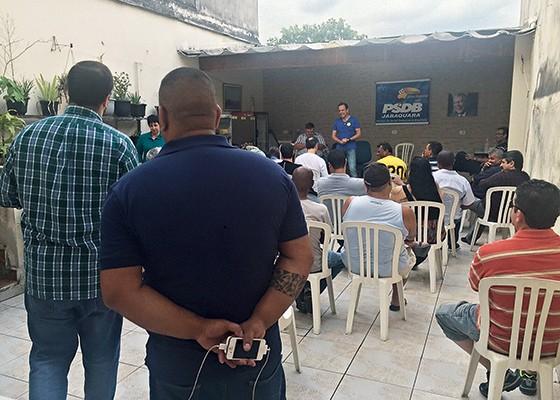 O empresário no Jabaquara. Na periferia, a plateia costuma ser bem mais inquieta (Foto: reprodução)