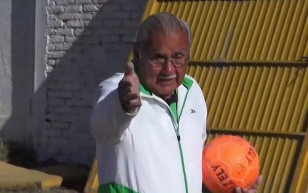 Antonio Carbajal, ex-goleiro do México (Foto: Reprodução SporTV)