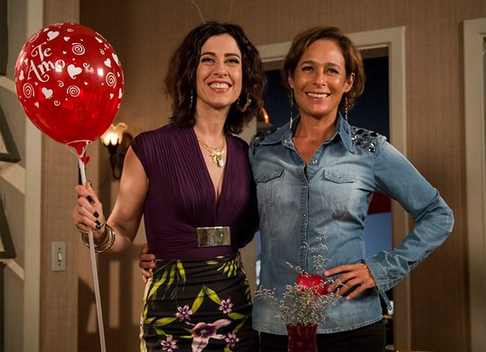 Andréa e Fernanda também são amigas fora das telinhas (Foto: TV Globo)