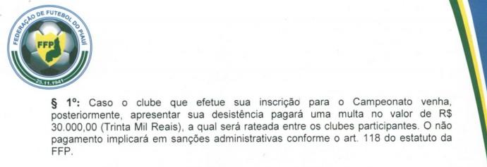 Regulamento Piauiense 2015 (Foto: Reprodução/FFP)