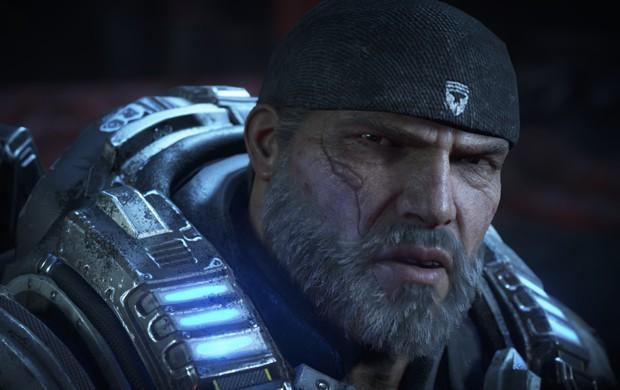 Marcus Fenix, herói de 'Gears of War', passa o bastão para o filho JD Fenix em 'Gears 4' (Foto: Divulgação/Microsoft)