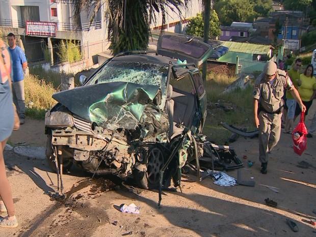 Acidente em viamão (Foto: Reprodução/RBS TV)