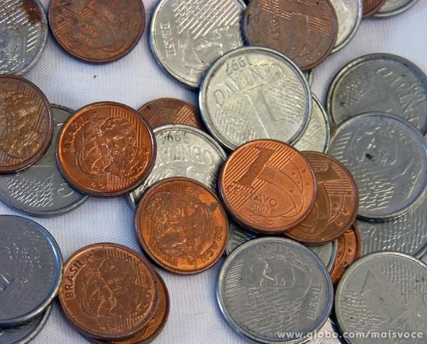 Moeda de um centavo: troco é obrigatório e não pode ser negado (Foto: Mais Você/TV Globo)