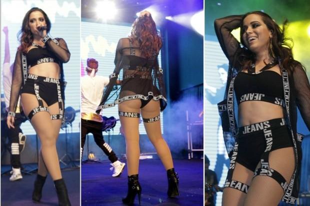 Anitta em show após desfile de moda no Rio (Foto: Isac Luz/EGO)