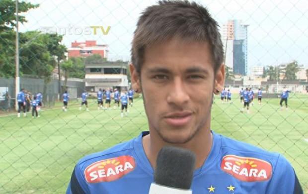 Neymar chama torcedores para Santos Run (Foto: Reprodução/Santos TV)