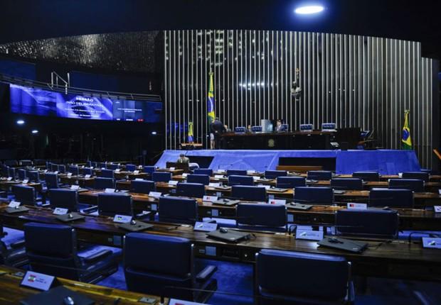 Plenário vazio da Câmara dos Deputados  (Foto: Marcos Oliveira/Agência Senado)