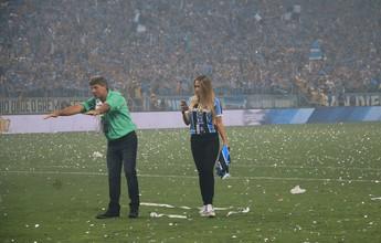 "Renato brinca ao lado da filha na arena após conquista: ""Pagar multa? Nada"""