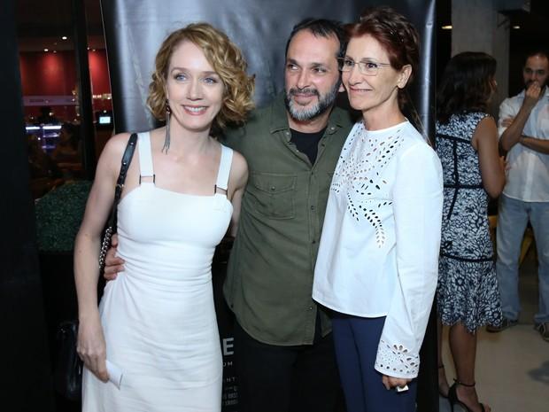 Camila  Morgado, José Luiz Villamarim e Cássia Kis Magro em pré-estreia de filme no Rio (Foto: Roberto Filho/ Brazil News)
