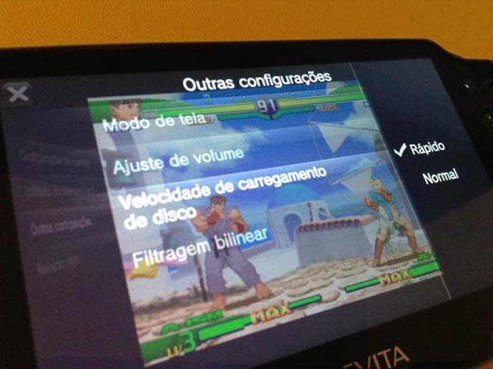 Vita: como acessar as configurações nos jogos de PSone (Foto: Reprodução/ Murilo Molina)