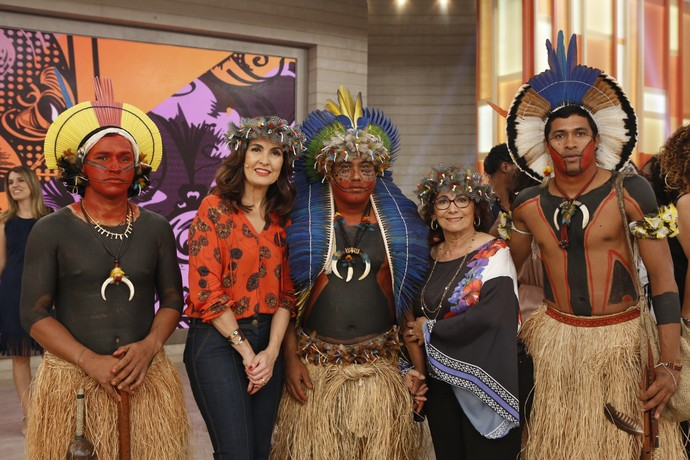 Fátima nos bastidores do 'Encontro'  (Foto: Ellen Soares/Gshow)