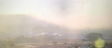 Congresso Nacional 'desaparece' com forte neblina em Brasília (TV Globo/Reprodução)