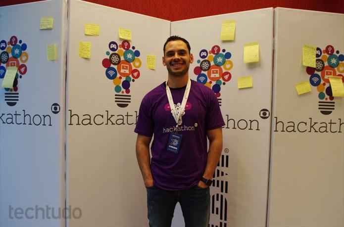 Maurício Meirelles, vencedor do Hack in Poa, é viciado em Hackathons e veio ao da Globo (Foto: Zingara Lofrano / TechTudo)