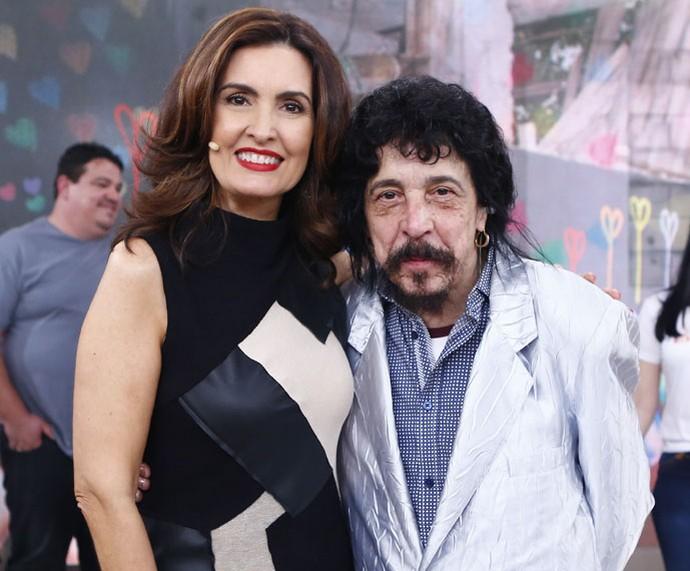 O cantor Benito di Paula com a Fátima  (Foto: Fábio Rocha/Gshow)
