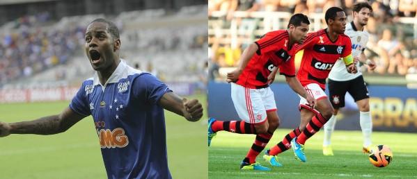 O Cruzeiro é o líder da competição e o Flamengo está em 12º lugar (Foto: Washington Alves / Vipcomm / Marcos Ribolli / Globoesporte.com)
