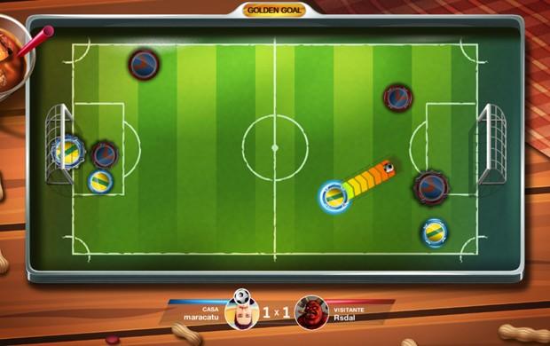 'Super Button Soccer', game brasileiro de futebol de botão, é lançado para PCs (Foto: Divulgação/Smyowl)