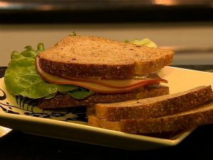 Vida e Saúde, alimentação para os treinos, sanduíche (Foto: Reprodução/RBS TV)