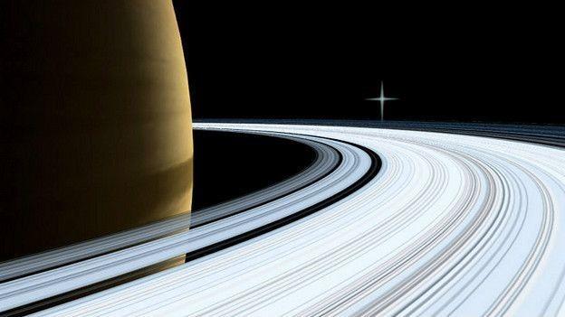 Saturno tem anéis mas, ao contrário de Marte que é rochoso, Saturno é um planeta gasoso (Foto: Nasa via BBC)