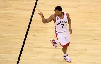 Dupla dos Raptors ofusca LeBron, time bate os Cavs e empata série em 2 a 2