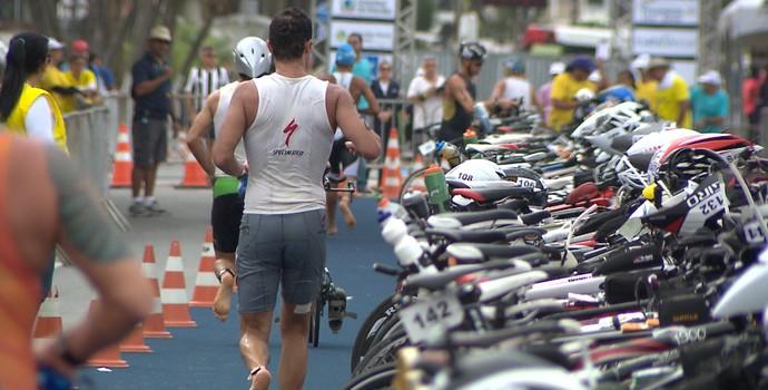 campeonato brasileiro de triatlo de longa distância, triatlo, joão pessoa, brasileiro triatlo (Foto: Reprodução / TV Cabo Branco)