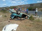 Quatro pessoas morrem após carro capotar na BA-020