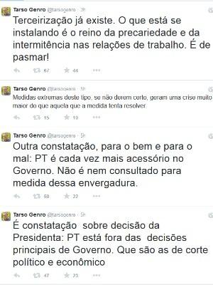 Tarso se manifesta sobre Dilma no Twitter (Foto: Reprodução/Twitter)